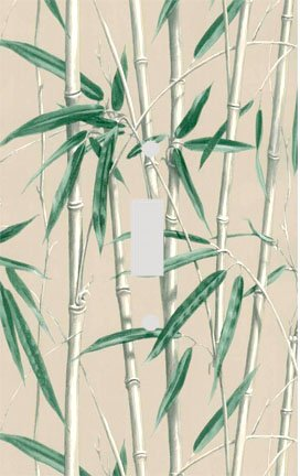 Bamboo Shoots on Tan Switchplate - Switch Plate Cover