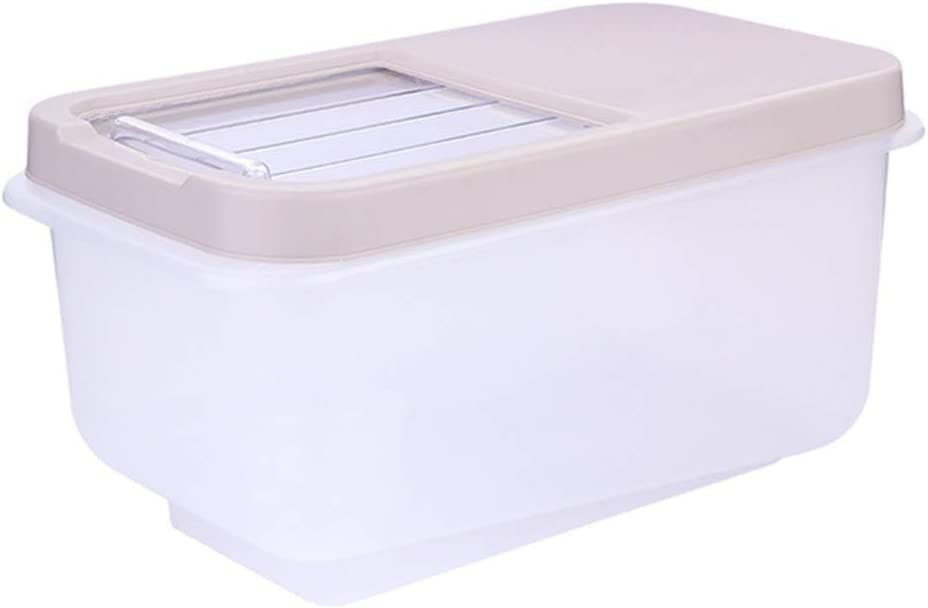 ANGELA Rectangular Dry Grain Box/Food Storage Container/Safety Class Cylinder Closed Container - Flour/Rice/Sugar – with Measuring Cup