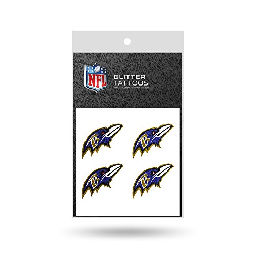 NFL Baltimore Ravens Glitter Tattoo, set of 4