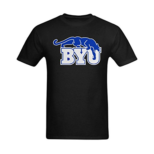 Youranli Men's BYU Blue And White Logo T Shirt 2XL ()