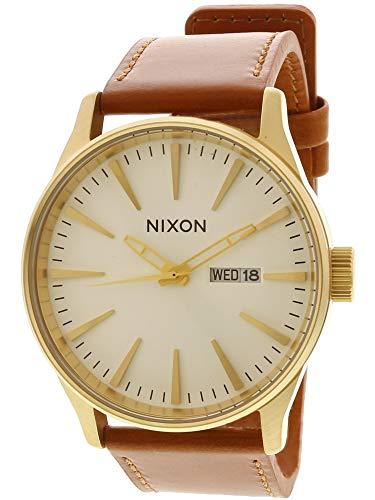 Nixon Men's Sentry Leather Gold/White/Saddle One Size ()