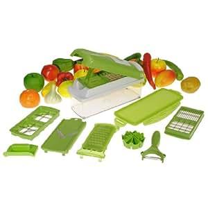 9PCS Kitchen Vegetable Fruit Slicers Container Chopper Peeler