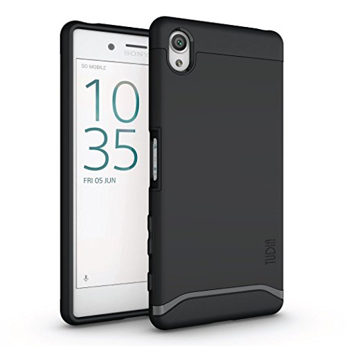 Sony Xperia X Case, TUDIA Slim-Fit MERGE Dual Layer Protective Case for Sony Xperia X (Matte Black) by TUDIA