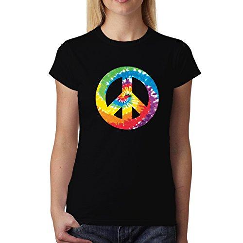Paz y Amor Señal Mujer Camiseta XS-2XL Nuevo Negro