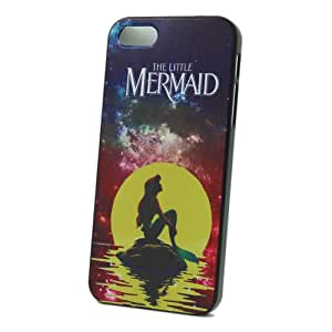 JIAXIUFEN Cute Little Mermaid with Galaxy Moon Island Ultrathin Hard Plastic Case Cover For Apple Iphone 4 4S 4G
