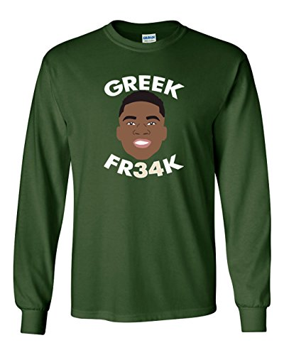 The Silo LONG SLEEVE GREEN Milwaukee ''The Greek Freak'' T-Shirt YOUTH by The Silo