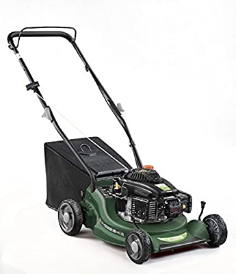 Q Garden 16 Inch Push Lawnmower with Bag Collection and Folding Handles by QGarden