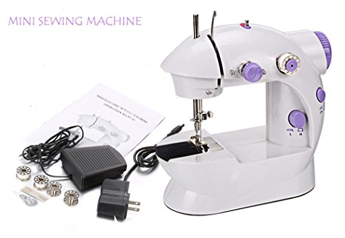 Mini Portable Sewing Machine, Electric Household Sew Tools 2-Speed Sewing Machine + 4 Bobbins [US STOCK] by Ferty