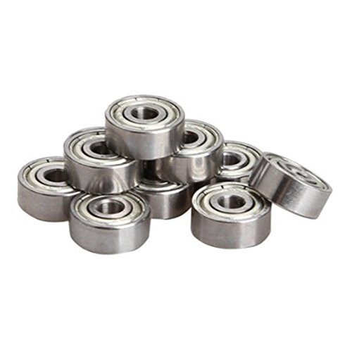 SODIAL(R) 10 Pieces Miniature Radial Ball Bearings 623ZZ 3x10x4mm for RC Car Practico