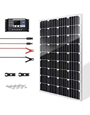 SUNSUL 20 Watt 12V Solar Panel Kit Battery Maintainer Trickle Charger, with Waterproof 5A 12V/24V PWM Solar Charge Controller and Adjustable Solar Panels Mount Rack Bracket