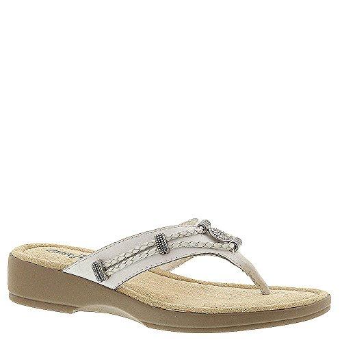 Minnetonka Silverthorne Thong Women's Sandal 8 2A(N) US White-White