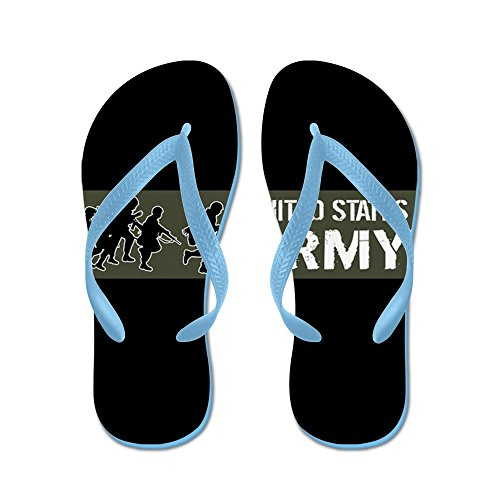 CafePress U.S. Army: United States Army (Military - Flip Flops, Funny Thong Sandals, Beach Sandals Caribbean Blue