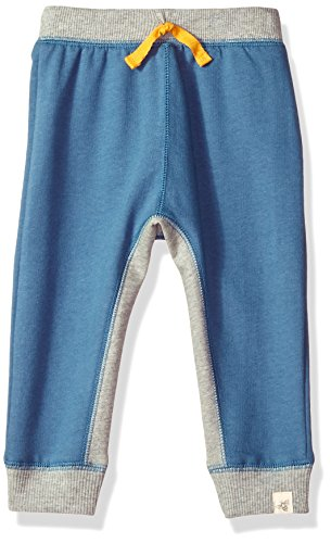 Burt's Bees Baby Baby Sweatpants, Knit Jogger Pants, 100% Organic Cotton, Blue Star French Terry, 3-6 Months