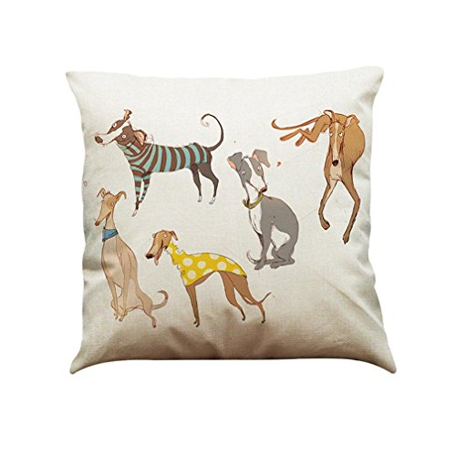 Hot Sale Cushion Cover, Zulmaliu Vintage Dog Pillow Case Sofa Waist Throw Cushion Cover Home Car Decor (Color B) ()