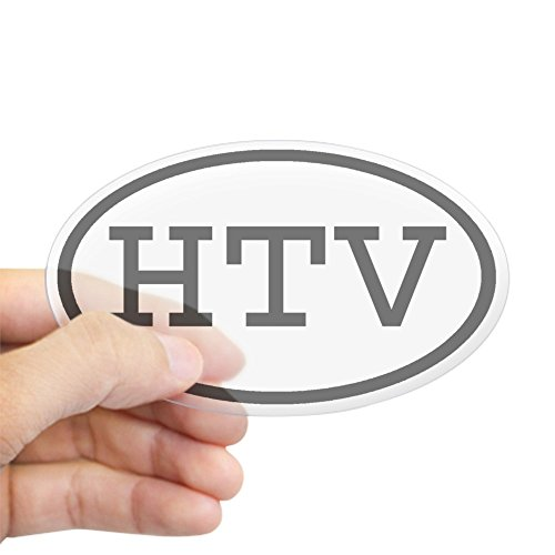 Price comparison product image CafePress - HTV Oval Oval Sticker - Oval Bumper Sticker, Euro Oval Car Decal