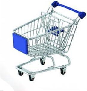 Mini Blue Shopping Cart