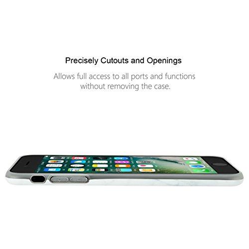"""Coque pour iphone 7, Leathlux Premium Marbre Motif Souple Silicone Étui Protection Bumper Housse Doux TPU Gel Ultra Mince Case Cover pour iPhone 7 4.7"""""""
