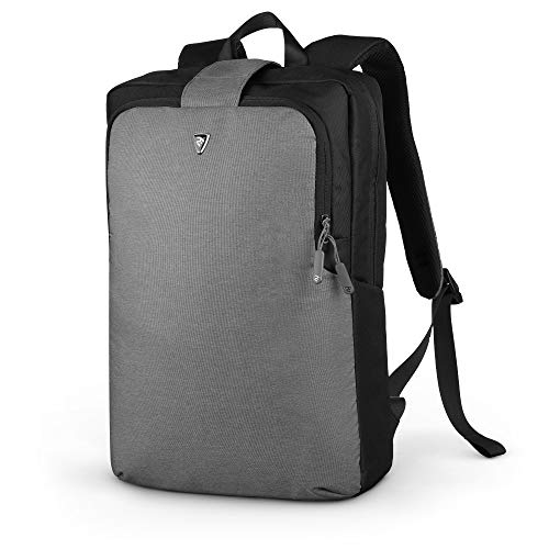 2E Canvas Laptop Backpack for Men and Women, Computer Bookback for College, Business and Travel, fits 15.6 inch Laptop or Notebook, Water Resistant, Slate Grey