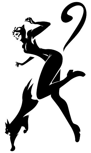 Animated Catwoman Design Superheroes DC Comics Fans Poster Cartoon Character Roommates Stickers Gotham City Interior Housewares Decor Selina Kyle Art Decal Supervillain Girl Mural Decorative Pattern ()