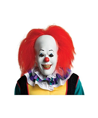 Stephen King It Costume (Stephen Kings It Pennywise Adult Clown Costume Mask)