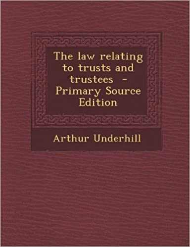 Book The law relating to trusts and trustees