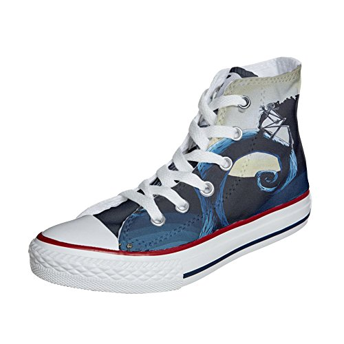 Converse All Star scarpe personalizzate (scarpe artigianali) abstract art