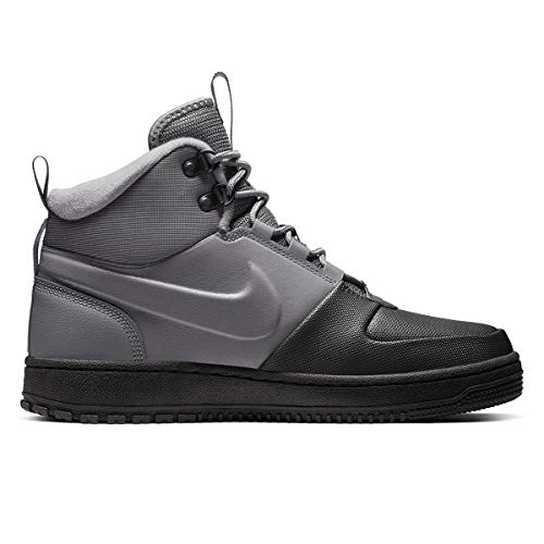 Nike Men's Path Winter High Top Sneaker (10.5, Grey)