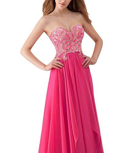 Sweetheart Chiffon Dreamdress Beads Dress Party Women' White Prom Long Crystal yqC7BOIrcq