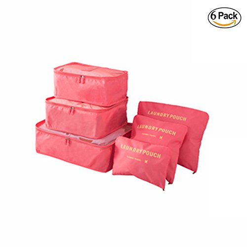 M-jump 6 Set Travel Storage Bags Multi-functional Clothing Sorting Packages,Travel Packing Pouches, Luggage Organizer Pouch