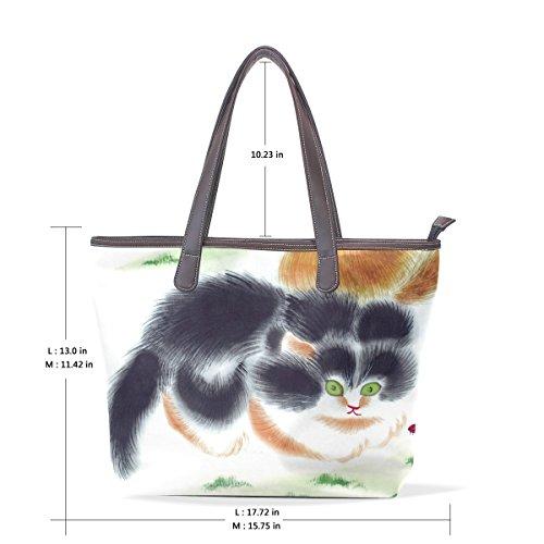 Chat Wo Bourse Compagnie Plus La Main Sac De Animal Grand Pour À Deyya Femme Épaule Provisions Cuir qOPa55