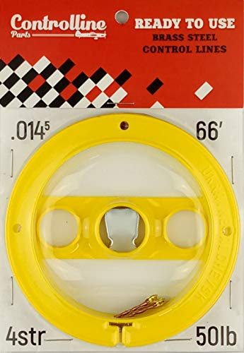 Line Kit for Control Line Planes (Yellow, 0.014x2x66