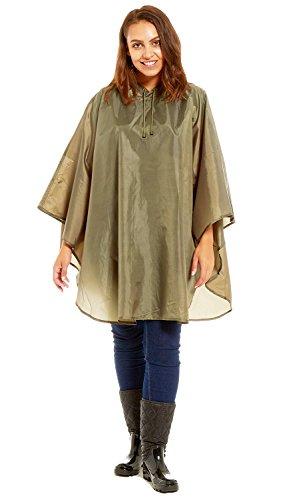 Hari Deals - Abrigo impermeable - Gabardina - para mujer caqui