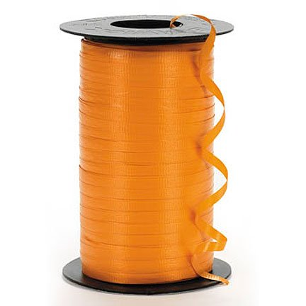 Orange Curling Ribbon 4 rolls 3/16