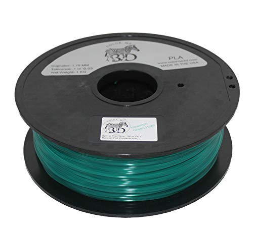 COLORME3D Quality 3D Printer Filament Hawaiian Green Haze PLA-1KG (2.2 LBS) Made in The USA 1.75 mm +/- 0.05 mm Accuracy-Hawaiian Green Haze PLA by Color Me 3D