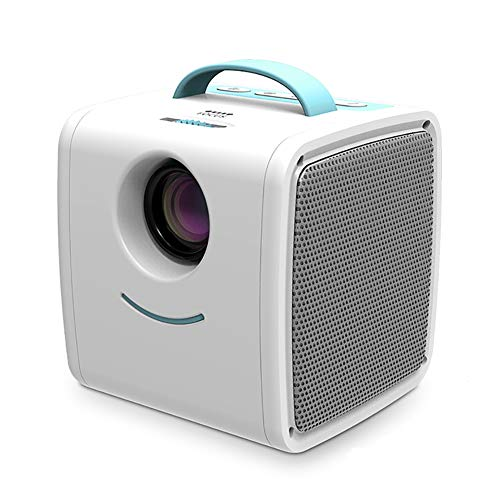 DZ-YJQ Mini Projector,Portable Home Movie Projector,Full HD 1080P Supported,Gifts for Kids,Compatible with HDMI, USB, TF, Laptop