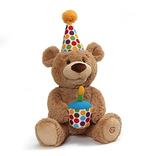 GUND Animated Happy Birthday Teddy Bear Stuffed Animal Plush, 10