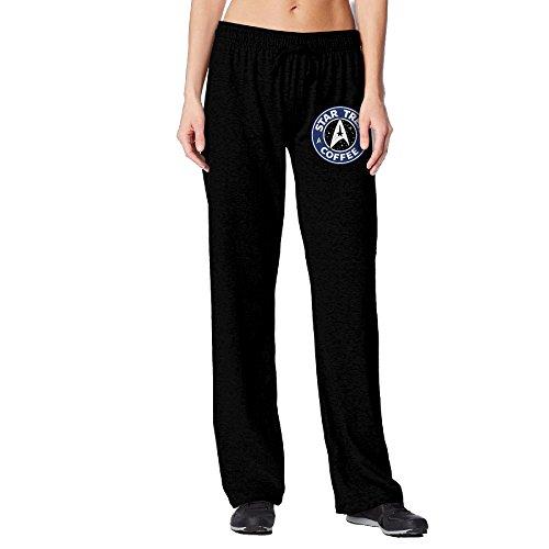 [BakeOnion Women's Star Coffee Logo Yoga Workout Pants M Black] (Scott Hall Costume)