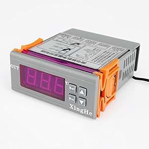 xh-w2028-50~ 110DC12V Digital LCD de la temperatura controlador calor Cool Temp termostato regulador de termómetro con Sensor