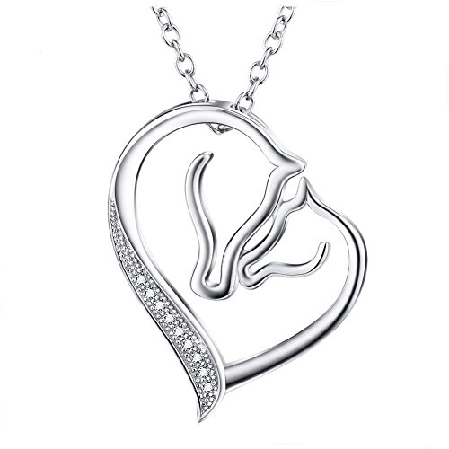 horse-925-sterling-silver-women-mother-child-love-heart-pendant-necklace-18-inches