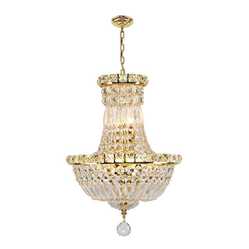 Worldwide Lighting Empire Collection 6 Light Gold Finish Crystal Chandelier 12