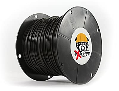 12, 14, or 16 Gauge Copper Core PE Covered Construction Quality Top Grade Wire - Better and Longer Lasting Than THHN (500, 1000, 1500, 2000, 2500 Foot Lengths)