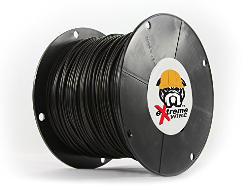 500 Feet - 14 Gauge Copper Core PE Covered Construction Quality Top Grade Wire - Better and Longer Lasting Than THHN