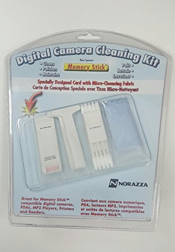 Norazza Deluxe Memory Card Slot Cleaning Kit for Digital Cameras that use Memory Stick Cards. - Memory Card Slot Cleaning Kit