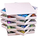 Puzzibly White Puzzle Sorting Trays with LID Jigsaw Puzzle sorters Organizers Holders fit up to 1000 Puzzle Pieces Accessories Gift for puzzlers