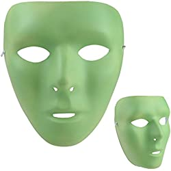 Glow-in-the-Dark Noctilucent Face Mask for Halloween Masquerade Cosplay Carnival Costume Party