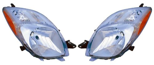 TOYOTA YARIS 2D/HATCHBACK PAIR HEADLIGHT 07-08 NEW