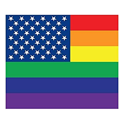 Wall26 Removable Wall Sticker/Wall Mural - Pride Flag Gay Pride Flag/LGBT Pride Flag Rainbow USA Flag Pattern | Creative Window View Home Decor/Wall Decor - 36