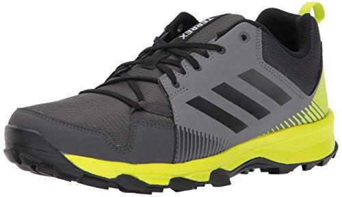 adidas outdoor Men's Terrex Tracerocker Trail Running Shoe, Grey Four/Black/Semi Solar Yellow, 10 D US