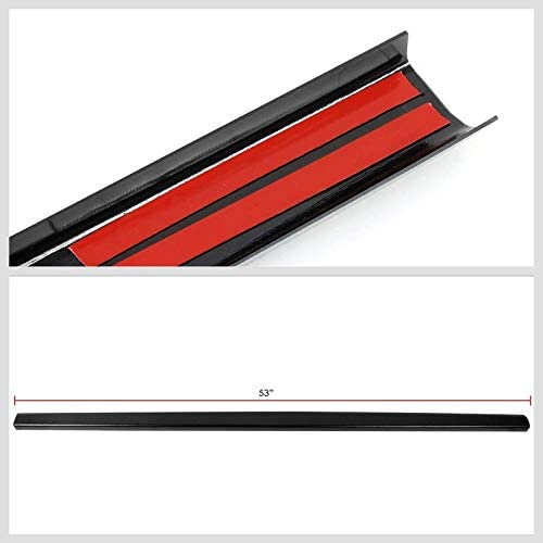 Black//Tape-On Works with 93-08 Ford Ranger//94-97 Mazda B2300 B3000 B4000 UrMarketOutlet Rear Tailgate Cargo Truck Bed Cap Molding Rail Protector Cover