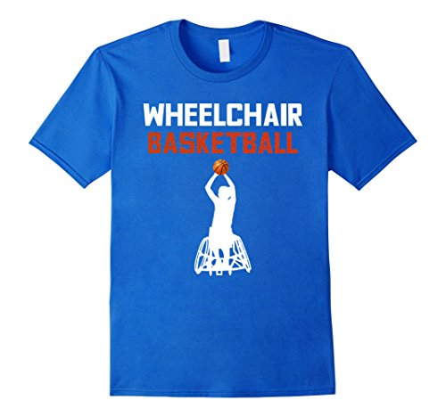 Mens Wheelchair Basketball Gym Paralympic Athlete Gift T Shirt 3XL Royal Blue